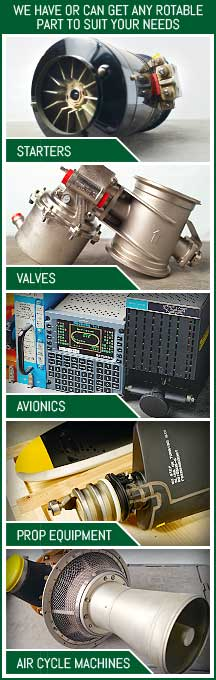 starters, valves, avionics, prop equipment, air valve machines